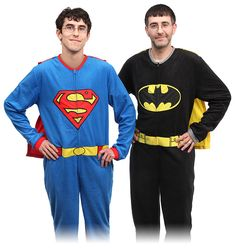 Superhero Union Suit Fleece Pajamas! Holy super bedtime apparel, Batman!