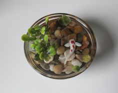 Miniature Koi Pond in Glass Paperweight, Fake Koi Pond, Koi Paperweight, Epoxy…