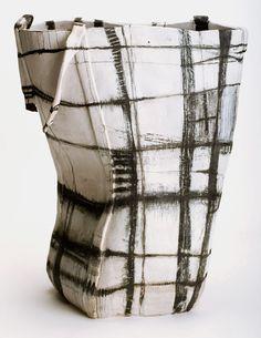 Brenda Holzke   Indigenous basket series.  Stoneware