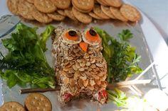 owl cheese ball - genius!