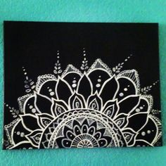 Handpainted mandala canvas art