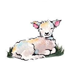 A personal favorite from my Etsy shop https://www.etsy.com/ca/listing/255445963/little-baby-lamb-illustration-original