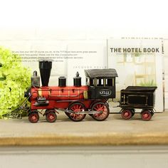 Vintage Antique Style Small Steam Train Metal Model Memory of Old Times Decoration Gift - Gadgets-Novelty - TopBuy.com.au