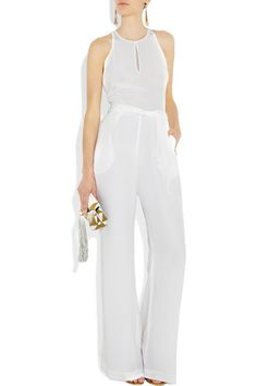 designer evening jumpsuits in black and white | Phillip Lim Presents New Elegant White Silk Jumpsuit also field in ...