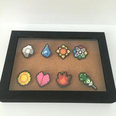 8-bit Pokemon Kanto Badge Pins Set by MyFeatherband on Etsy