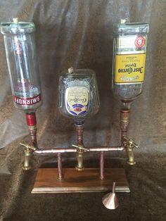 The Triple Whiskey/Liqour Dispenser With Bottles