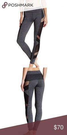 NWT- Electric Yoga Leggings Electric Yoga Mesh Panel Leggings - Fits true to size  Color: Heather Grey/Charcoal with some black in the mesh panels.   Material: 80% polyester, 14% spandex, 6% nylon  - Sheer mesh panels run the side of a stretch active legging with hidden key pocket. - Banded waist - Inside waistband pocket - Mesh net panel insets - Semi-sheer construction Electric Yoga Pants Leggings