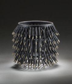 Artist: Malene Müllertz, Title: Porcupine Basket - click on image to enlarge