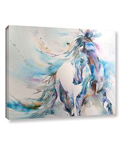 Another great find on #zulily! Blue Horse 9 Wrapped Canvas #zulilyfinds