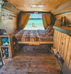 Awesome Wood Interior Ideas for Sprinter Van Camper The camper is simpler to maintain and store. Van campers possess the benefits of a motorhome in you don't need Read more. - Awesome Wood Interior Ideas for Sprinter Van Camper Cool Campers, Rv Campers, Bus Camper, Sprinter Van, Mercedes Sprinter, Kombi Motorhome, Kombi Home, Van Interior, Interior Design