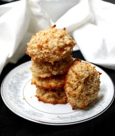 These vegan Coconut Almond Macaroons are sweet and coconutty and the almonds add more flavor and deliciousness. They are also gluten-free, and soy-free.