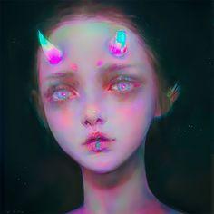 Digital illustrations by Yanjun Cheng - Journal of Design - Yanjun Cheng is a digital artist and illustrator who lives and works in New York. His images are of - Art And Illustration, Illustrations, Pretty Art, Cute Art, Pretty Girls, Bel Art, L'art Du Portrait, Art Mignon, Aesthetic Art