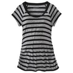 Liz Lange® for Target® Maternity Short-Sleeve Ruched Tee in black