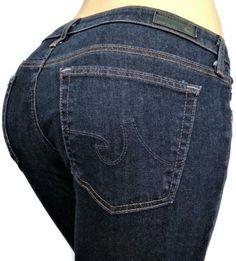 AG-Adriano-Goldschmied-Womens-Jeans-30-x-31-The-Stevie-Slim-Straight-Dark-Denim