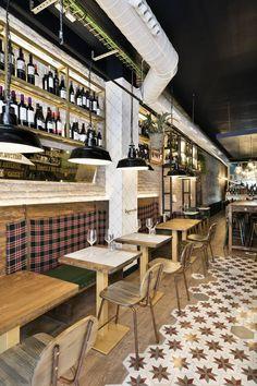 Casa Dorita es un nuevo restaurante de cocina tradicional y tapas en el barrio barcelonés deSant Antonidiseñado porDröm Living.