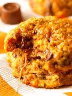 Caramel Stuffed Oatmeal Pumpkin Cookies Recipe - RecipeChart.com