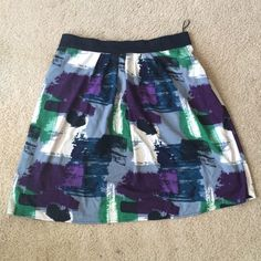Abstract Skirt Elastic waist...perfect for a night out or a day in the office! Triste Skirts