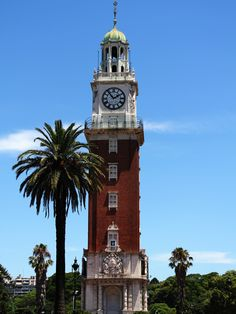 S7E4: English (Monumental) Tower, Buenos Aires Argentina. The English Tower (Torre de los Ingleses) is the contribution of British residents from Buenos Aires to commemorate the 100th anniversary of the Argentinean revolution of 26th of May.