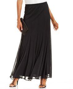 Plus Size Chiffon Maxi Skirt   Chiffon maxi, Clothing and ...