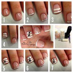 Nail Art How To, Nail Tutorial, Step-by-Step, Nail Designs, Cute Nails, Music Note Nails   NAILPRO