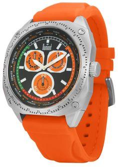 Relógios Dumont O robusto SZ40062P é um modelo que valoriza a praticidade dos cronógrafos em estilo esportivo. O grande diferencial fica por conta do dial, que apresenta os horários mundiais em sua catraca interna, e da pulseira em borracha com cor vibrante, forte tendência para o verão 2011.