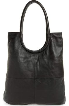 60875a95fa6 Topshop Premium Leather Oversized Top Handle Tote   Nordstrom