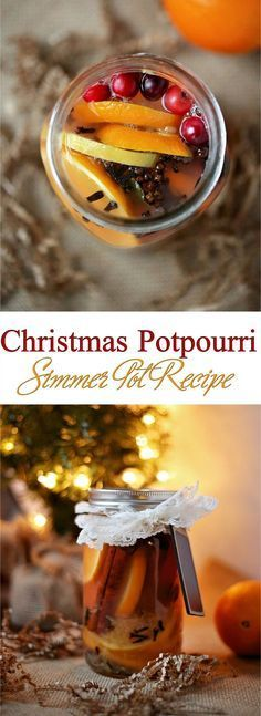 The best thing about the holiday season is the fragrances! Try this easy homemade Christmas Potpourri Simmering Pot recipe for stovetop or Crockpot to bring the holiday scent to your home with real ingredients for a natural air freshener. Place ingredients in a jar and it Makes an excellent Holiday gift!