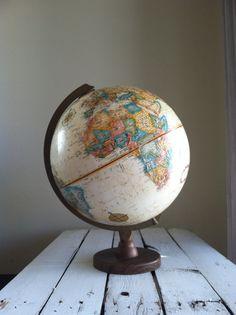 RESERVED Vintage world globe Replogle world globe made in the USA mid century modern world globe