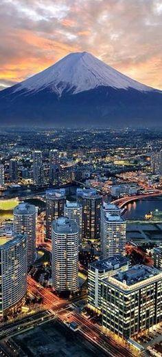 Yokohama City & Mount Fuji  ~Japan