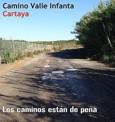Los caminos están de pena. Camino Valle Infanta #Cartaya