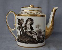Paris Locré La Courtille Théière Porcelaine Décor Grisaille Epoque Empire 1800 | Céramiques, verres, Céramiques françaises, Porcelaine de Paris | eBay!