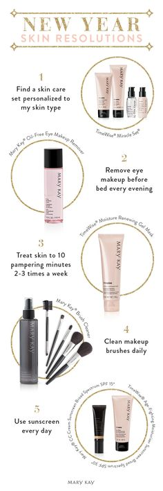Five New Year's resolutions that are easy to keep with these Mary Kay beauty products. Give your skin the love and pampering it deserves this year!