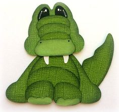 Stuffy Pal Alligator Animal Premade Paper Piecing 3D Die Cut My Tear Bears Kira…
