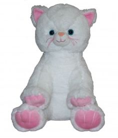 "Singing 16"" plush White and Pink Kitten which plays custom music featuring your child's name."