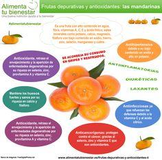 Frutas depurativas y antioxidantes: la mandarina #alimentatubienestar