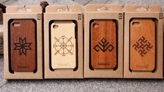 """Rozes Bode"" - ecologic wooden iPhone cases with Latvian signs"