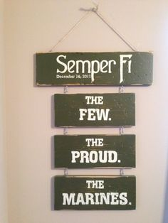 Marine Corps Sign by PaintingPersonal on Etsy, $65.00