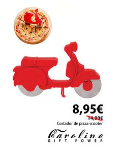 Caroline en Cirilo Amorós 24 Valencia. cortador de pizza, scotter, moto, pizza, kitchen, home, deco, cool,