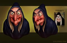 """The Witch"" - 3D model by Polycount user Ravenslayer. Daily Disney Doodles - Polycount Forum"