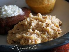 Garlic Roasted Parsnip and Cauliflower Mash by The Gingered Whisk