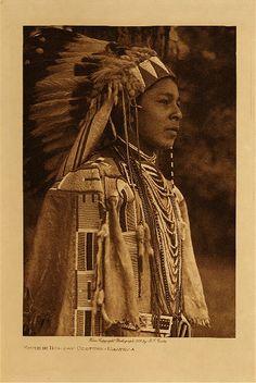 c 1909 Umatilla youth  photo: Edward S. Curtis  (Native American, Indian, Oregon, headdress, dentalium shells, beaded clothing, beads, beadwork)