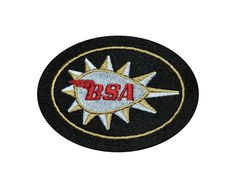 CLASSIC BSA MOTORCYCLE EMBROIDERED PATCH/GOLD STAR/BEEZA
