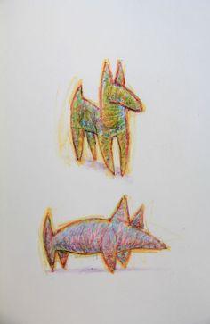 "€du∆rdo √.- drawings, crayons -  ""dogs_2"""