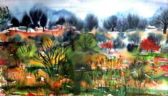 Autumn - Watercolour painting by Tjaša Kuerpick