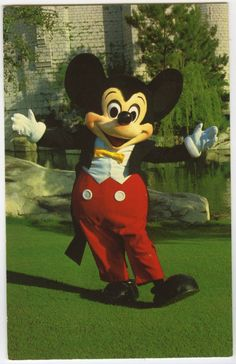 Disney World Welcome Mickey Mouse in Front of Cinderella Castle | eBay