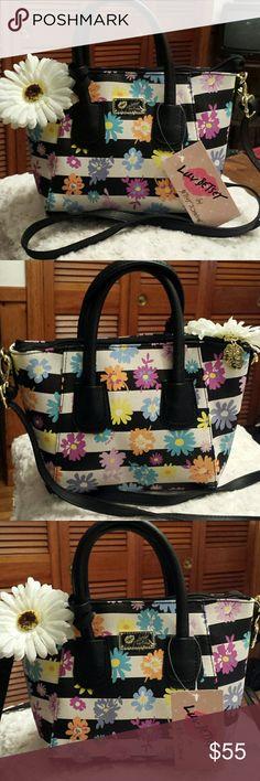 Betsy Johnson NWT 'Luv Betsy'  Satchel /Xbody Bag NWT ADORABLE 'Luv Betsy' by Betsy Johnson Dome Flower Pattern Satchel /Xbody Bag. Removable Crossbody Strap. Betsy Johnson  Bags Satchels