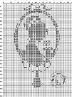 Gallery.ru / Фото #33 - Женский образ (схемы) 5 - Olgakam Cross Stitch Silhouette, Cross Stitch Art, Beaded Cross Stitch, Cross Stitch Designs, Cross Stitching, Cross Stitch Embroidery, Embroidery Patterns, Wedding Cross Stitch Patterns, Creation Couture
