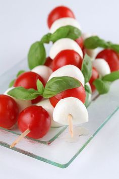 What screams garden party more than a caprese salad on something pointy? There's an art to it, of course. Learn more: http://eat.snooth.com/articles/caprese-salad-on-a-stick/
