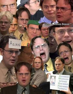dwight collage