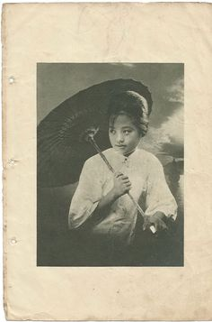 Shanghai actress Xu Qinfang 徐琴芳 (circa 1920s)  star of the 13-part wuxia serial The Swordswoman of Huangjiang (1930-32)  Courtesy of kwsx